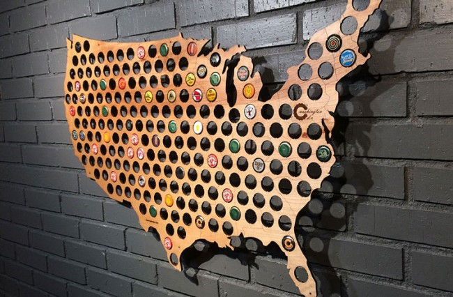 US Beer Cap Map