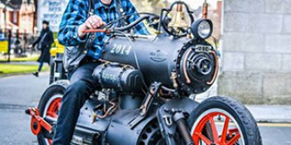 Steam Engine Motorcycle: Black Pearl
