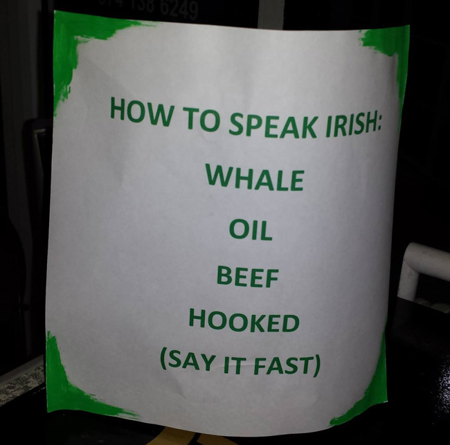 How to speak Irish.
