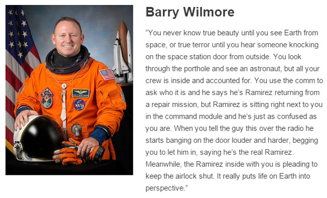 Barry Wilmore describes space