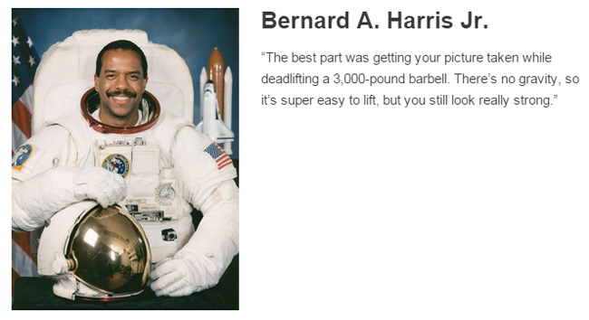 Bernard A. Harris Jr. describes space