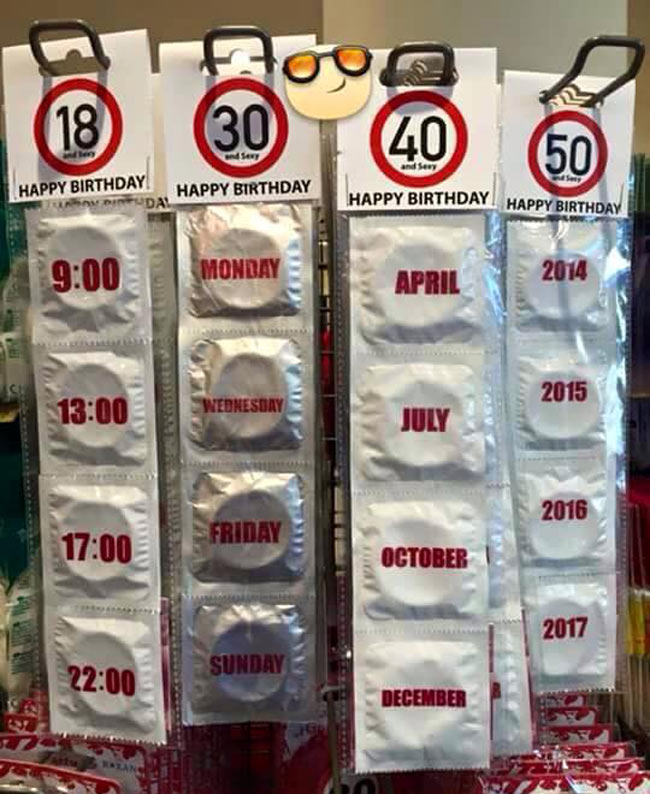 Funny Birthday Condoms