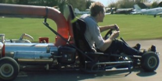 Insane Jet GoKart Runs on Propane Gas & Diesel