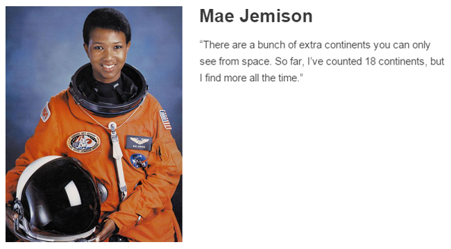 Mae Jemison describes space