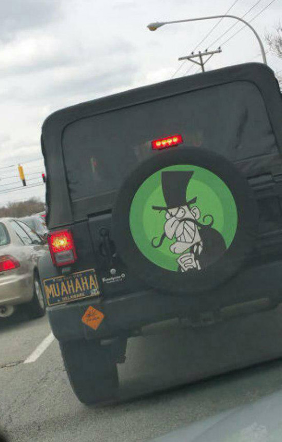 My friend saw this in traffic today.