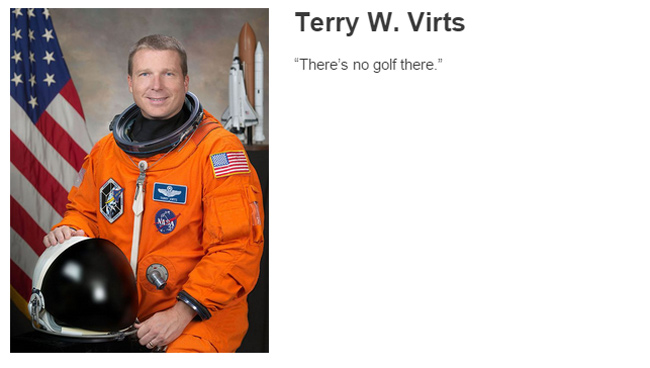 Terry W. Virts describes space