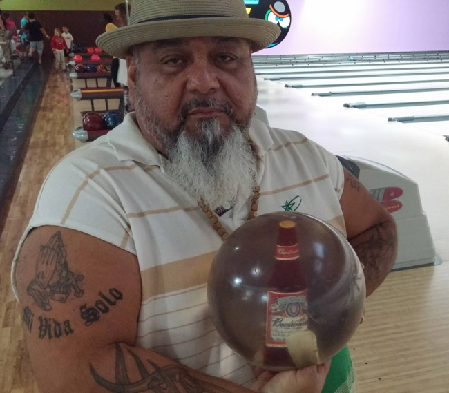 Beer bottle bowling ball