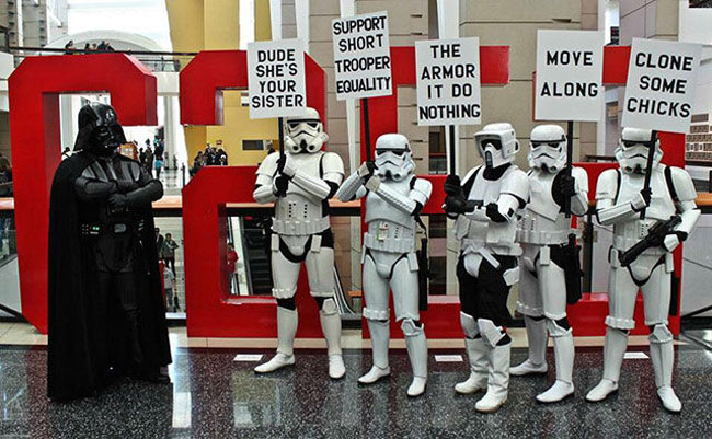 Stormtrooper protest