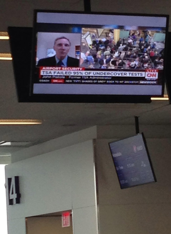This is the news headline you want to see while waiting at the airport.