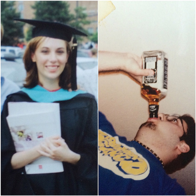 My wife and I in college.