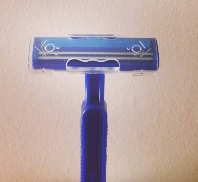 I think my disposable razor knows I'm about to shave my balls.