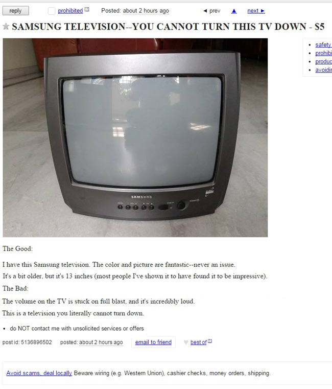 The Craigslist deal no one could possibly turn down...