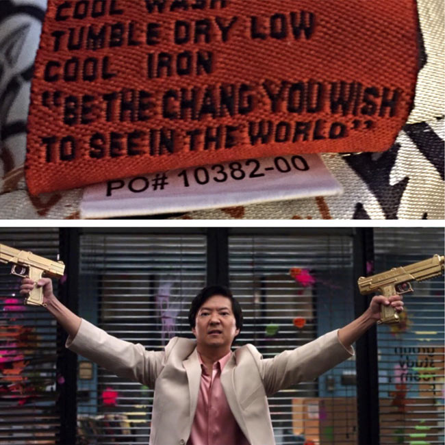 "Be the ""chang"" you wish to see in the world"