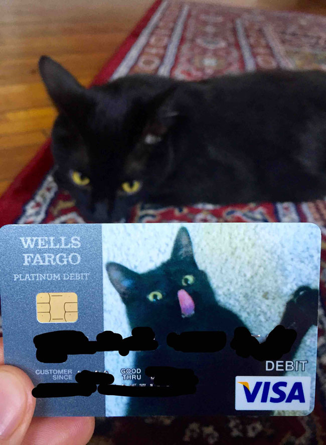 New debit card came today..