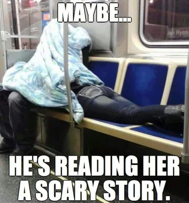 Undercover on train
