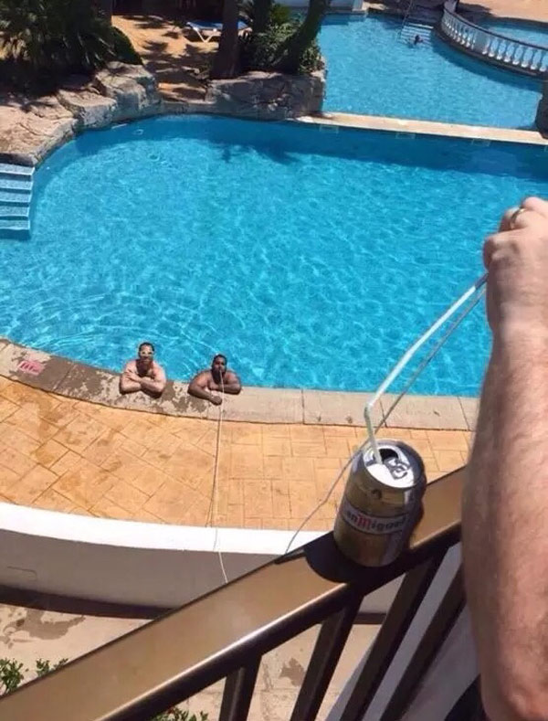 When no drinks are allowed at the pool