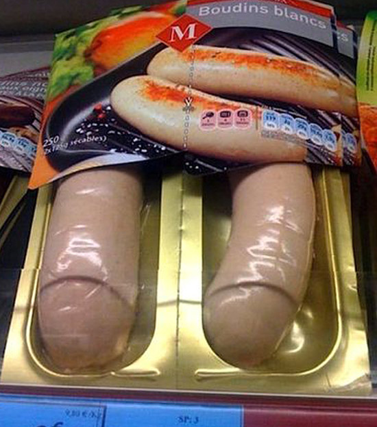 Unfortunate sausage packaging