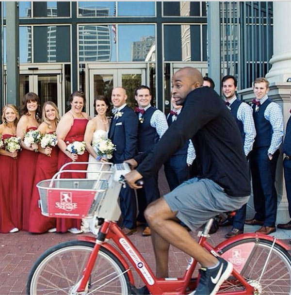 My local bike share posted this photobomb