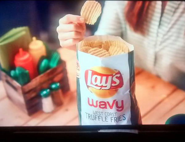 Nice try, Lay's. No one has EVER seen a full bag of potato chips - your ad is false