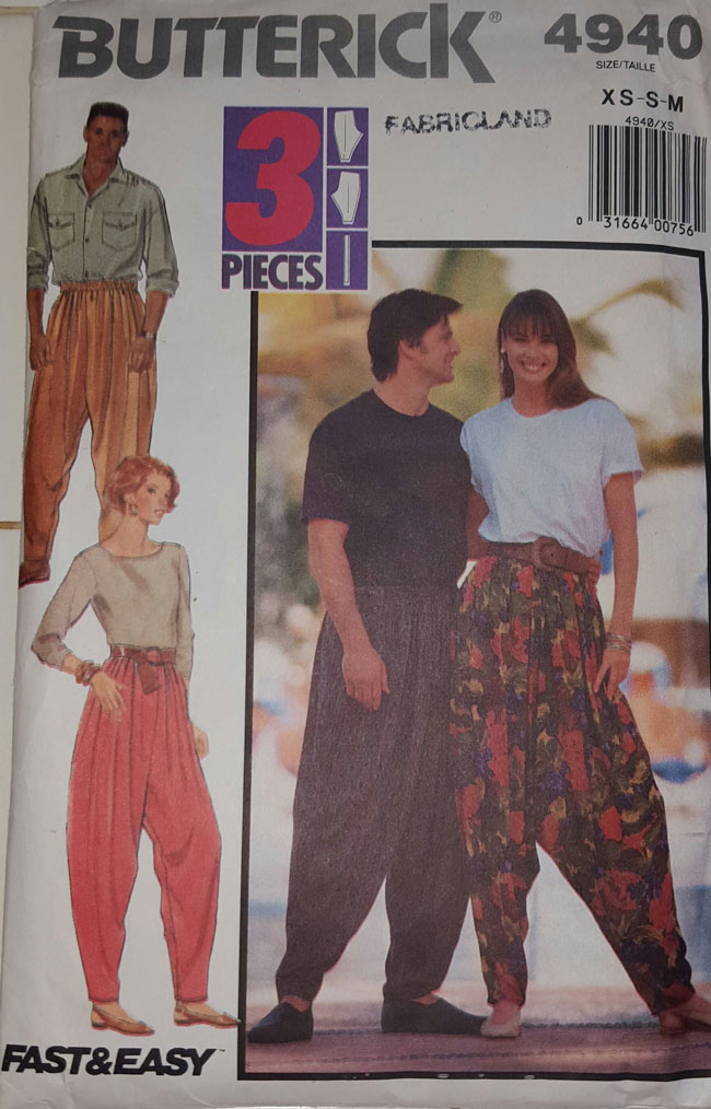 As far as 1990's sewing patterns go, you can't touch this