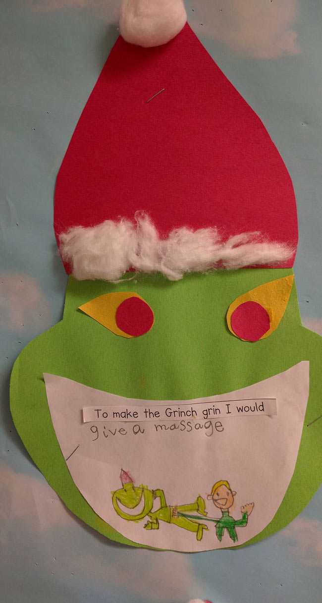 To make the Grinch happy I would...
