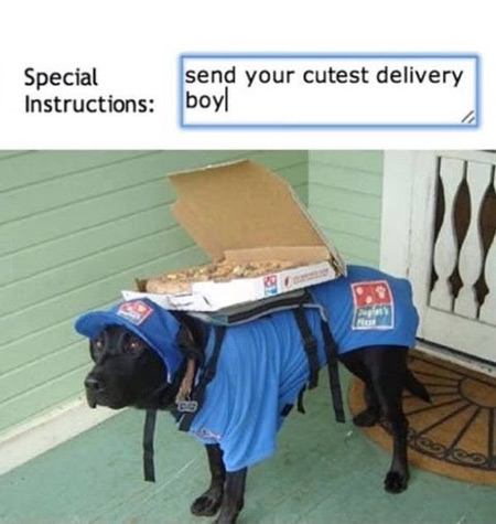 Send your cutest delivery boy