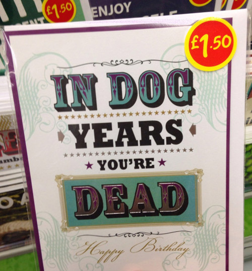 A birthday card that caters to somebody sensitive about their age