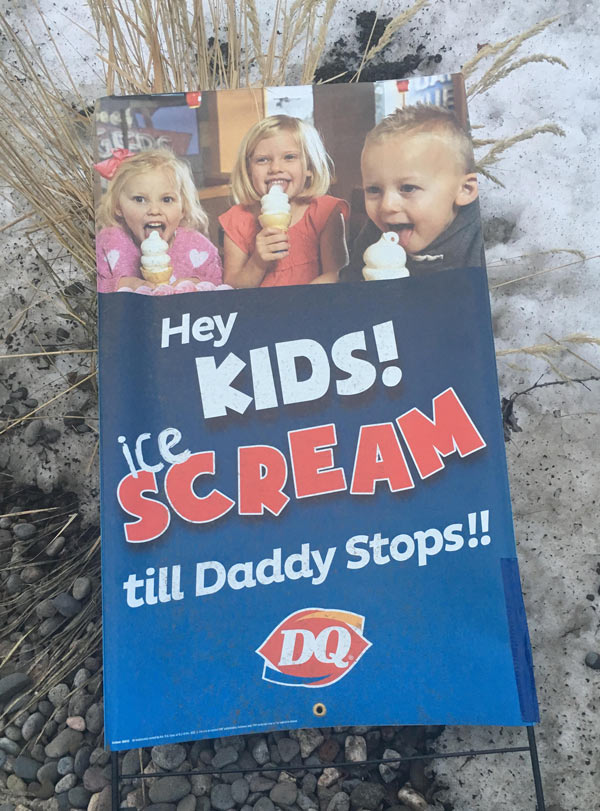 I'm not sure Dairy Queen thought this ad through completely...