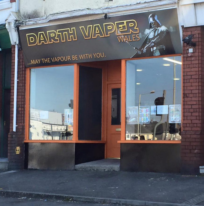 So this new smoking vapor shop opens up in a town near me (what will Disney say?)