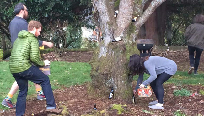 After their egg hunt, the kids hid beer for the grownups to find