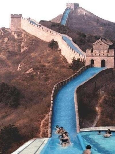 What should have been done with the Great Wall of China