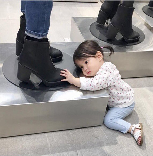 When you see a pair of shoes that you love but you can't afford them
