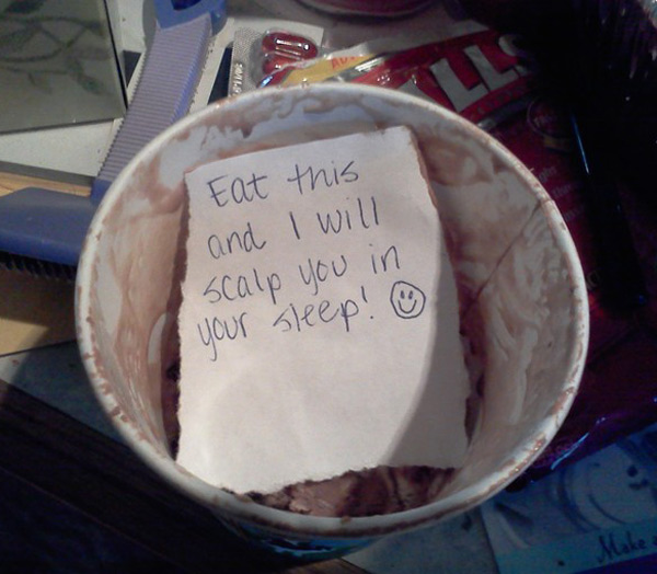 My significant other would leave me love notes on food