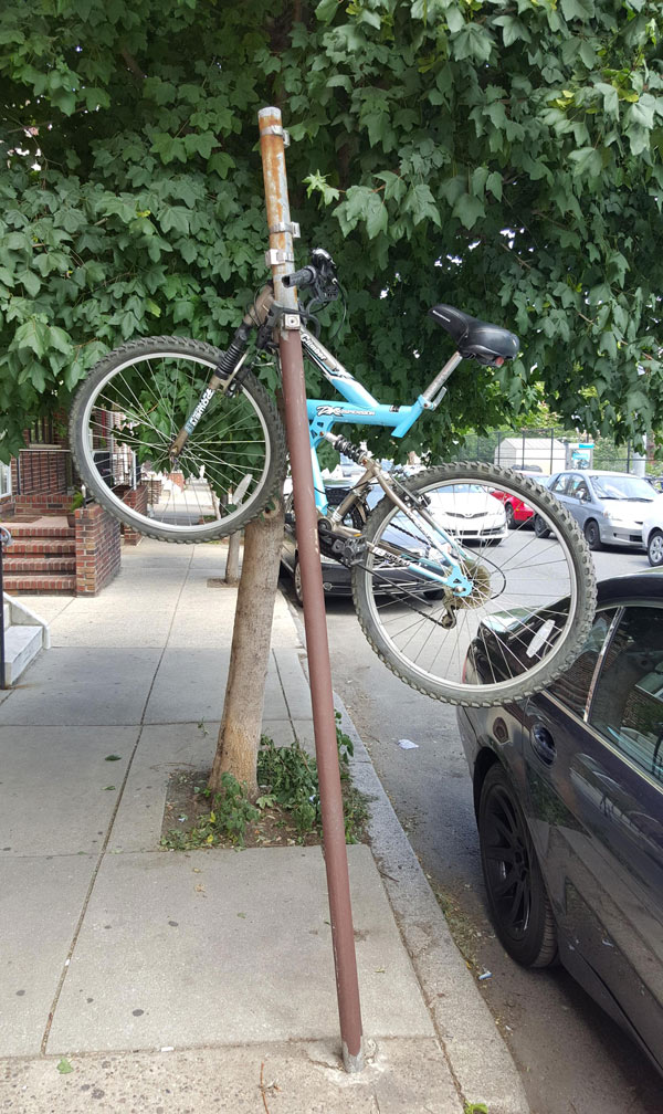 Saw someone trying to steal a bike the hard way in Philly yesterday, When I beeped my parked car, he ran leaving this