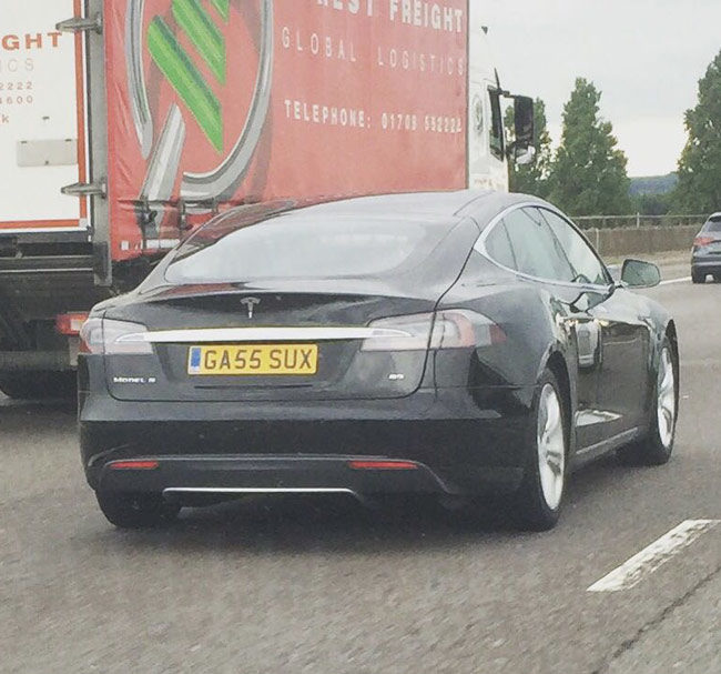 The best number plate to grace a Tesla?