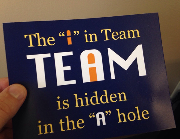 "The ""i"" in team"