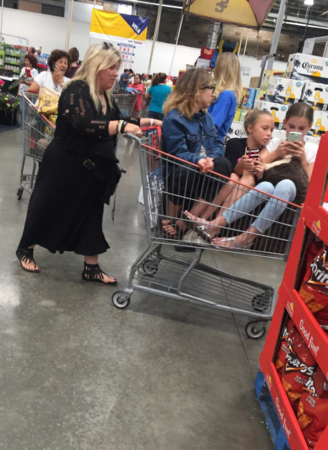 If you're old enough to own a cell phone, you're old enough to walk at Costco without being pushed
