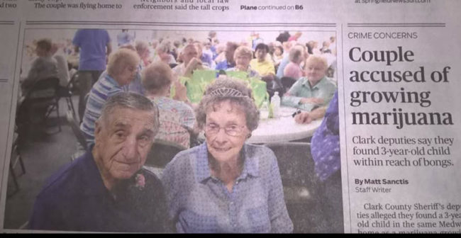 "My Aunt and Uncle were crowned ""golden couple"" at our local fair for being the longest married couple in the county at 72 years. Our local paper did a fantastic arrangement for the honor..."