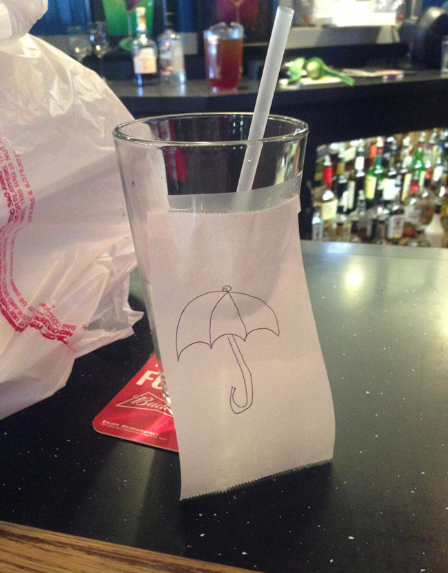 Unfortunately, they were out of little umbrellas
