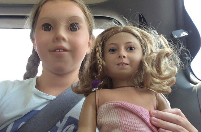My daughter face swapped with her doll