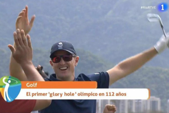 "Spanish TV coverage of the Olympics decided to rename a ""hole in one"""