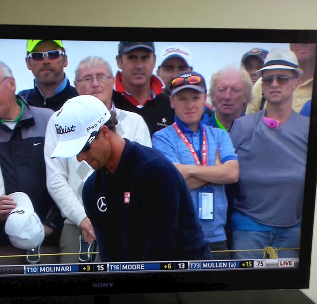 No cameras allowed at The British open? No problem for this dude, and his very inconspicuous pink camera!