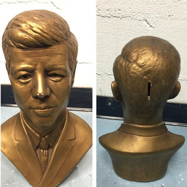 A JFK Piggy Bank. Not really thought out that well...