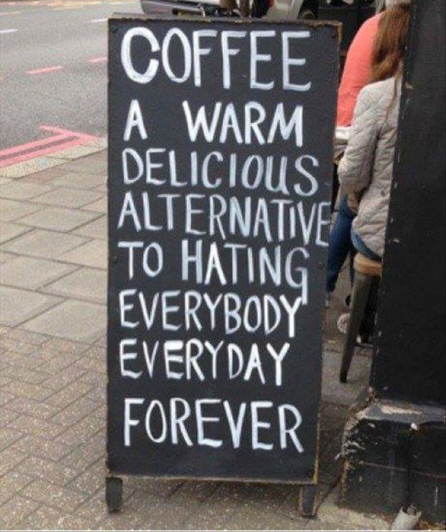 I believe this to be true of all coffee drinkers