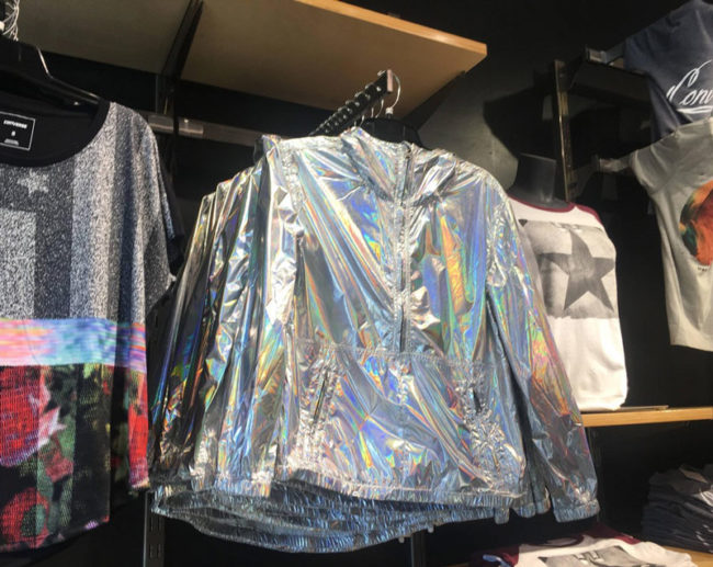This jacket in the Converse store looks exactly like what someone in 1986 would imagine someone in 2016 wearing