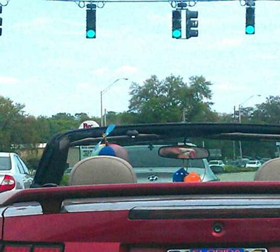 The only hat to wear in a convertible