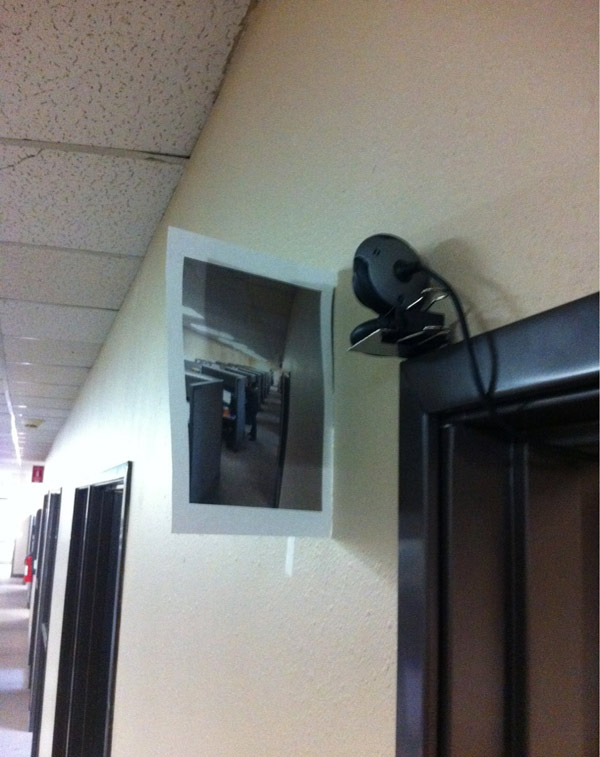 Boss put a webcam outside his office