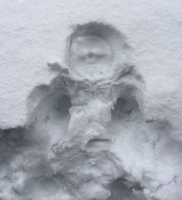 Friend's kid face-planted in the snow