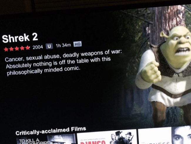 Shrek 2 is a lot darker than the first one