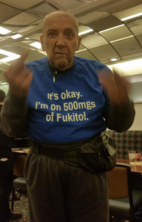 Awesome old man I met at the casino buffet just now